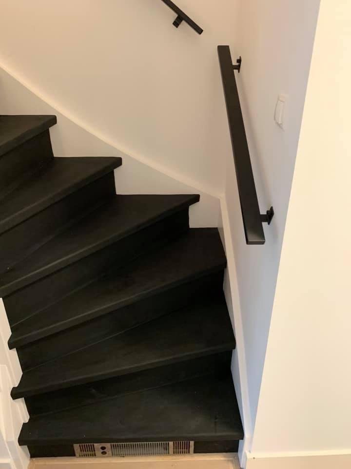 Leren trapbekleding zwart